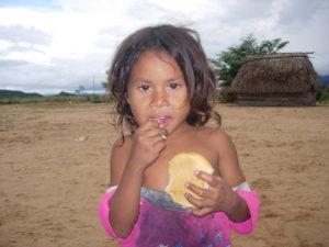 Niña de la comunidad indígena Morichal Verde (Piliguaos-Venezuela)