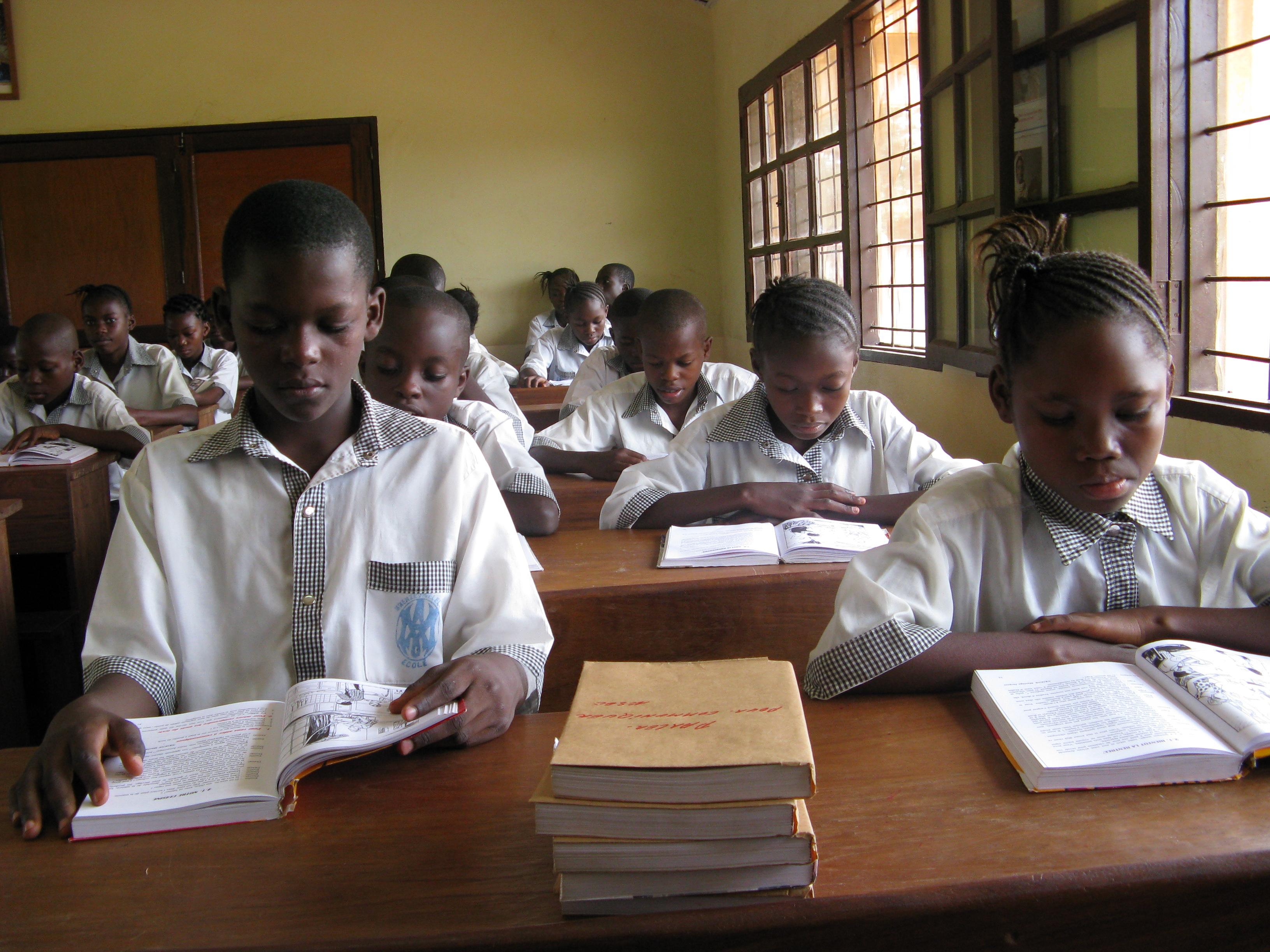Alumnos en su aula