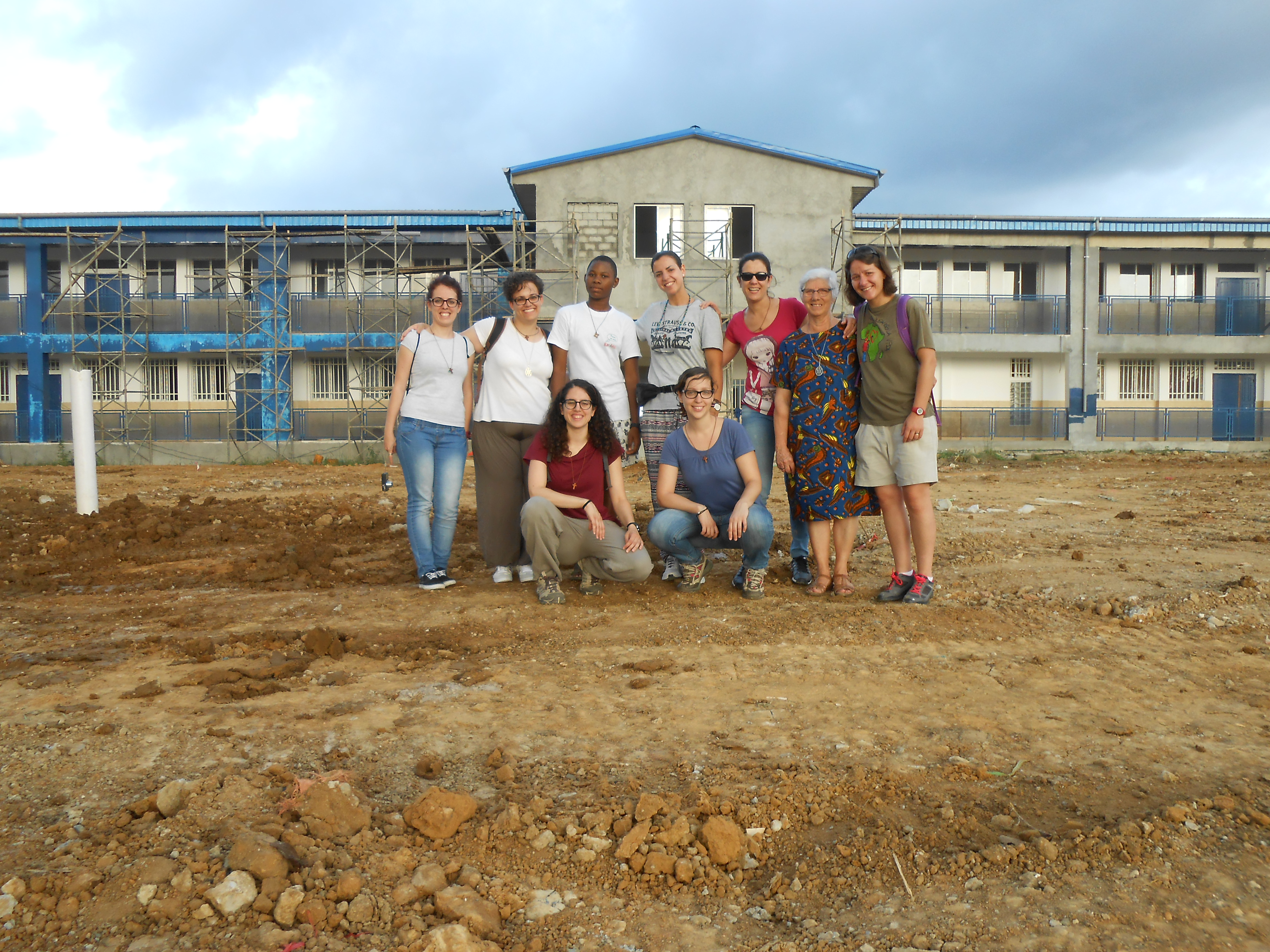 Voluntarios en Evinayong (Guinea Ecuatorial)