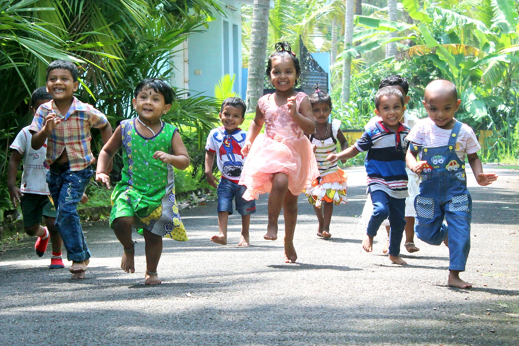 Niños jugando Thelathuruth