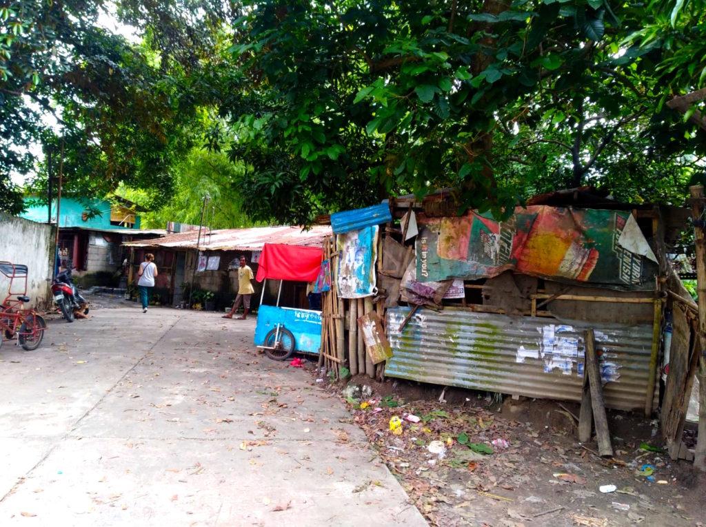 Barrio de chabolas en Bacolod