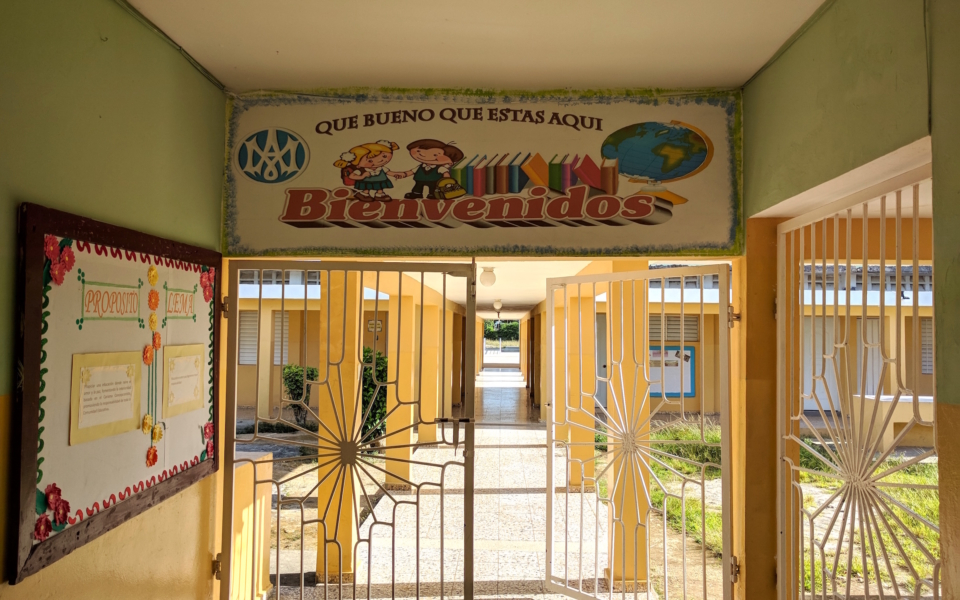 Escuela Consuelo salida patio