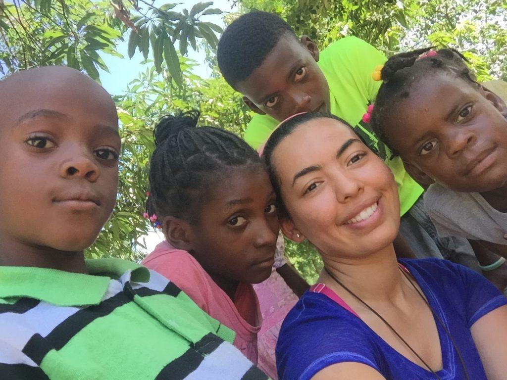 Voluntaria en Haiti