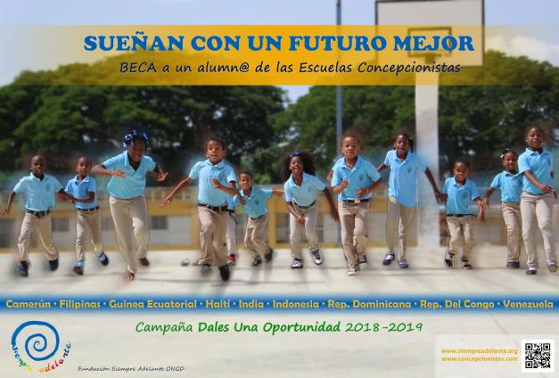 """Poster becas """"Dales una oportunidad"""""""