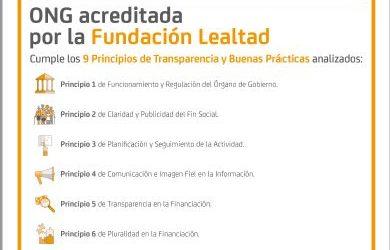 ¡HEMOS OBTENIDO EL SELLO DE ONG ACREDITADA DE FUNDACIÓN LEALTAD!