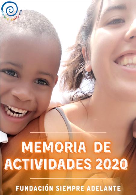 Portada Memoria Fundación Siempre Adelante 2019